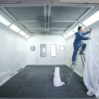 CR46 SPRAY BOOTH LINING FILM
